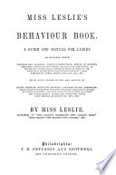 The Behaviour Book  a manual for ladies