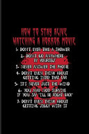 How To Stay Alive Watching A Horror Movie