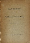 Plant Economics in the Field Museum of Natural History