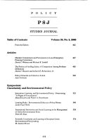 Policy Studies Journal Book