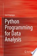 Python Programming For Data Analysis