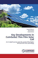Key Developments In CuInGaSe2 Thin Film Solar Cell