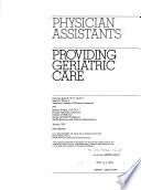 Physician Assistants Providing Geriatric Care