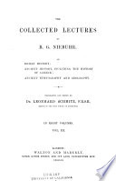Collected lectures     on Roman history Book