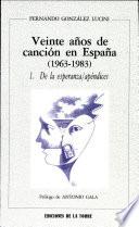 Veinte años de canción en España, 1963-1983
