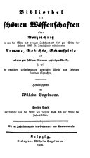 Die Literatur von der Mitte des Jahres 1836 bis zur Mitte des Jahres 1845