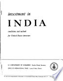 Investment in India Book PDF
