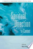 Spiritual Direction in Context Book