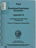 Final Functional Equivalent Document  Consolidated Toxic Hot Spots Cleanup Plan Book
