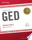 Master the GED  Practice Test 3 Book