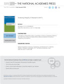 Pdf Fostering Integrity in Research Telecharger