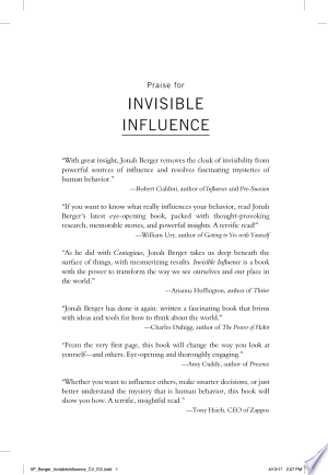 Download Invisible Influence Free Books - Dlebooks.net