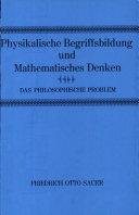 Physikalische Begriffsbildung und mathematisches Denken