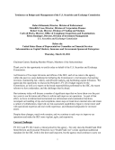 Budget and Management of the U  S  Securities and Exchange Commission  SEC