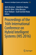 Proceedings of the 16th International Conference on Hybrid Intelligent Systems  HIS 2016