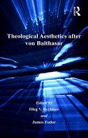 Theological Aesthetics after von Balthasar Pdf/ePub eBook