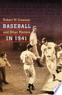 Baseball And Other Matters In 1941 Book