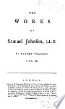 The Works of Samuel Johnson, LL. D.: The Adventurer. Philological tracts