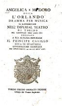 Angelica e Medoro ossia L'Orlando