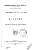 Exercises and problems in algebra  by J  Pryde  with answers