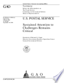U S  Postal Service sustained attention to challenges remains critical