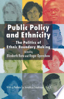 Public Policy and Ethnicity Book
