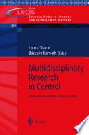 Multidisciplinary Research In Control Book PDF