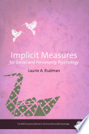 Implicit Measures for Social and Personality Psychology Book