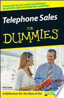 Telephone Sales For Dummies Book