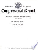 Congressional Record  : Proceedings and Debates of the ... Congress , Volume 115,Parte 14