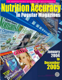 Nutrition Accuracy in Popular Magazines  2004 05