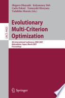 Evolutionary Multi Criterion Optimization