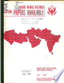 Foreign Affairs Research Special Papers Available Near East South Asia And North Africa