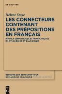 Pdf Les connecteurs contenant des prépositions en français Telecharger