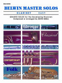 Belwin Master Solos (Clarinet), Vol 1: Easy