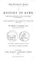 The Student s Rome  A History of Rome     Illustrated     New Edition      Revised