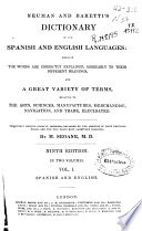 Neuman and Barettis Dictionary of the Spanish and English Languages Book