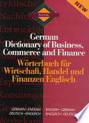 Routledge German Dictionary Of Business Commerce And Finance