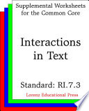 CCSS RI.7.3 Interactions in Text