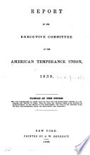 Annual Report American Temperance Union