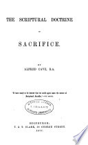 The Scriptural Doctrine of Sacrifice