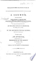 The Death of Christ an Atonement for Sin  A Sermon Preached Before the Society in Scotland for Propagating Christian Knowledge     by     Thomas Fleming     An Abstract of the Proceedings of the Society from December 1  1789  Etc
