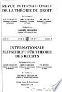 Internationale Zeitschrift für Theorie des Rechts