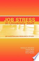 Job Stress in University Staff