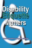 Disability Etiquette Matters Pdf/ePub eBook