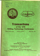 Transactions Of The Drilling Technology Conference Book PDF