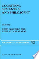 Read Online Cognition, Semantics and Philosophy For Free