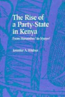 The Rise of a Party State in Kenya