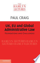Uk Eu And Global Administrative Law