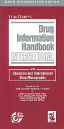 Lexi Comp s Drug Information Handbook International Book